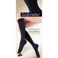 501 microfibra 60 den grey podkolanówki, Gabriella