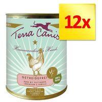 Korzystny zestaw bez zbóż, 12 x 800 g - królik z cukinią, morelami i ogórecznikiem marki Terra canis