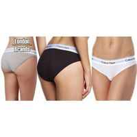 Calvin klein 3-pack bikini  czarne szare białe