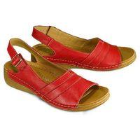 ŁUKBUT 1104 bordo, sandały damskie