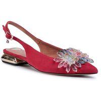 Sandały R.POLAŃSKI - 1015 Czerwony Zamsz