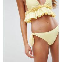 Peak & beau exclusive bow tie side bikini bottom in lemon - yellow, Peek & beau