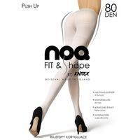 Rajstopy noq push up 80 den 4-l, czarny/nero, knittex marki Knittex