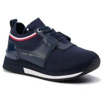 Sneakersy TOMMY HILFIGER - Knitted Sock Active City Sneaker FW0FW04147 Tommy Navy 406, w 7 rozmiarach