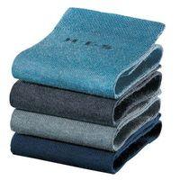 Skarpetki damskie H.I.S (4 pary) bonprix ciemnoniebieski + niebieski dżins + głęboki niebieski + dymny niebieski