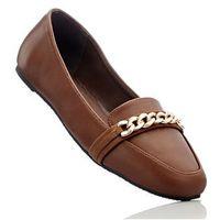 Buty wsuwane bonprix koniakowy brązowy -złoty, w 3 rozmiarach