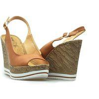 Sandały Jezzi SA70-4 Brązowe lico