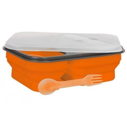 Lunch Box MPM Smile Sls-1 Silikonowy 300 ml i 600 ml Pomarańczowy + Zamów z DOSTAWĄ JUTRO!, kolor pomarańczowy