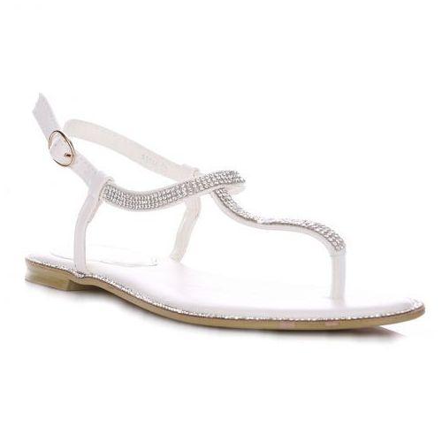 Eleganckie sandały damskie białe marki Kerline