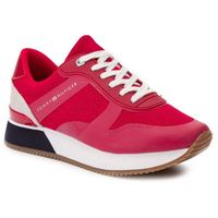 Sneakersy - tommy jacquard city sneaker fw0fw04026 tango red 611 marki Tommy hilfiger