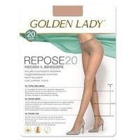 Rajstopy Golden Lady Repose 20 den 5-XL, grafitowy/fumo, Golden Lady, kolor niebieski