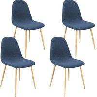 Wideshop Komplet kuchenny 4 krzesła meble kuchenne niebiesk