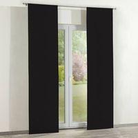 zasłony panelowe 2 szt., black (czarny), 60 x 260 cm, cotton panama marki Dekoria