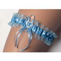 Podwiązka Enjoy Ines Cyrkonie Nr 5 ROZMIAR: uniwersalny, KOLOR: błękitny, Enjoy, kolor niebieski