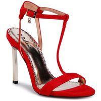 Sandały R.POLAŃSKI - 1074 Czerwony Zamsz