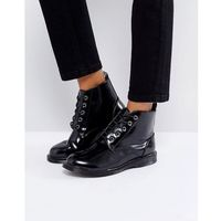 Truffle collection lace up ankle boots - black