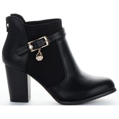 Eleganckie botki damskie na obcasie firmy czarne (kolory), Lady glory