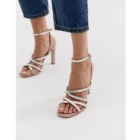 hourglass pink diamante strappy heeled sandals - pink, Office