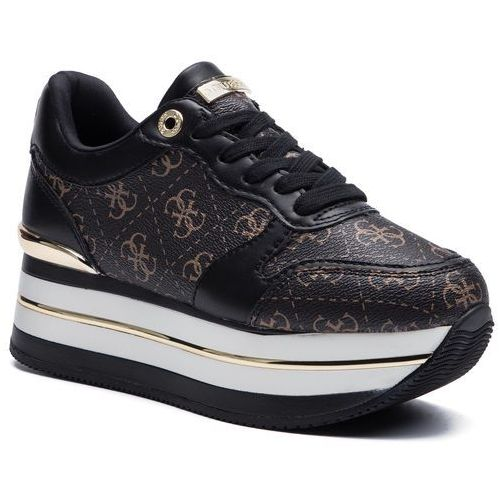 Sneakersy GUESS - Hinders3 FL7HN3 FAL12 BROWN/BLACK, kolor czarny