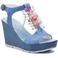 Sandały - 1020 niebieski zamsz, R.polański, 36-40