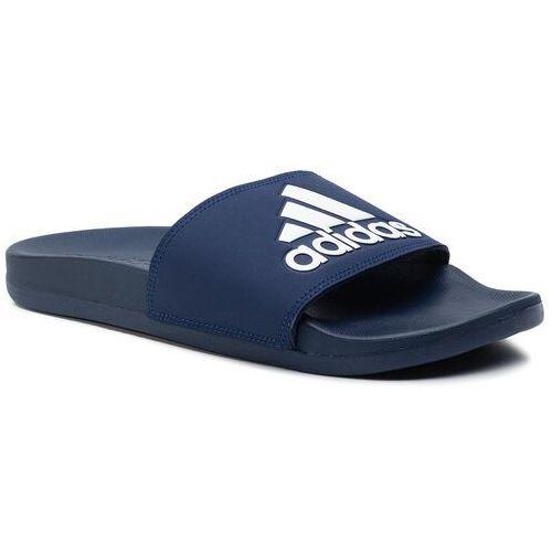 Adidas Klapki - adilette comfort b44870 dkblue/ftwwht/dkblue