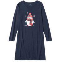 Koszula nocna ciemnoniebieski z nadrukiem, Bonprix, S-XL