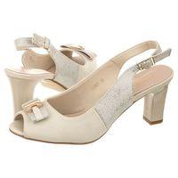 Sandały Sergio Leone Beżowe 36805 (SL173-b)