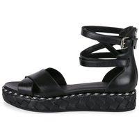 What For sandały damskie 39 czarne, kolor czarny