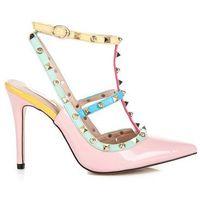 Buty vices Kolorowe sandały na szpilce vices