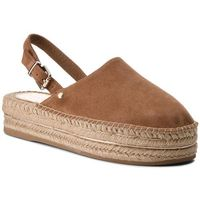 Espadryle - elevated flatform slip on fw0fw02643 summer cognac 929 marki Tommy hilfiger