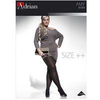 Rajstopy amy size++ 60 den 7-8 rozmiar: 8, kolor: czarny/nero, adrian marki Adrian