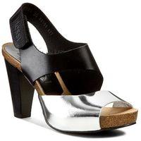Sandały - 42103 czarny 11/srebro, Nessi, 36-40