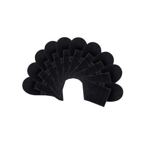 Krótkie skarpetki damskie big box (10 par) czarny, Bonprix