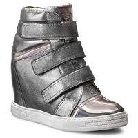 Sneakersy - 1694-127-p srebrny szary, Karino