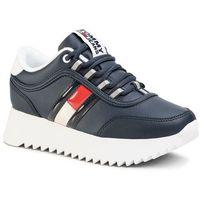 Sneakersy TOMMY JEANS - High Cleated Flag Sneaker EN0EN00784 Twilight Navy C87, kolor niebieski
