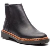 Sztyblety - trace fall 261291794 black leather, Clarks, 35.5-42