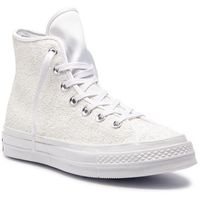 Sneakersy CONVERSE - Chuck 70 Hi 162472C White/Silver/White, kolor biały