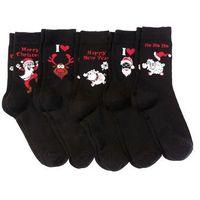 Skarpetki bożonarodzeniowe (5 par) czarny marki Bonprix