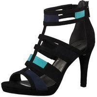 TAMARIS Sandały z rzemykami 'Strappy Heel Coloured' niebieska noc / aqua / czarny (4059253561956)