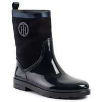 Kalosze - warmlined suede rain boot fw0fw03976 midnight 403, Tommy hilfiger, 36-42