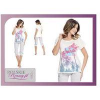 Piżama damska aloha: śmietankowa biel marki Dobranocka