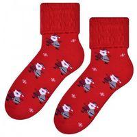 Skarpety damskie STEVEN Frotte 030 wz.021 czerwone, Frotte 030 wz.021