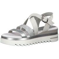 MARCO TOZZI Sandały srebrny / biały, w 7 rozmiarach