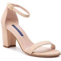 Sandały STUART WEITZMAN - Nearlynude ZL37406 Bambina Suede, kolor beżowy