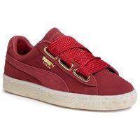 Sneakersy - suede heart celebrate wn's 365561 02 red dahlia/red dahlia, Puma, 35.5-41