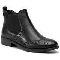 Botki - 1-25993-23 black leather 003 marki Tamaris