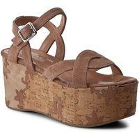 Sandały TWINSET - Sandalo CS7TUS Nudo Scuro 0846S, kolor brązowy