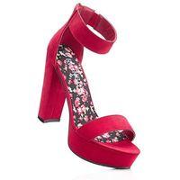 Sandały na podeszwie platformie bonprix czerwony, kolor czerwony