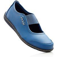 Baleriny bonprix niebieski dżins