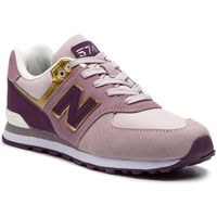 New balance Sneakersy - gc574mlg fioletowy